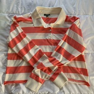 NWOT Wild Fable Striped, Collared Crop Long Sleeve